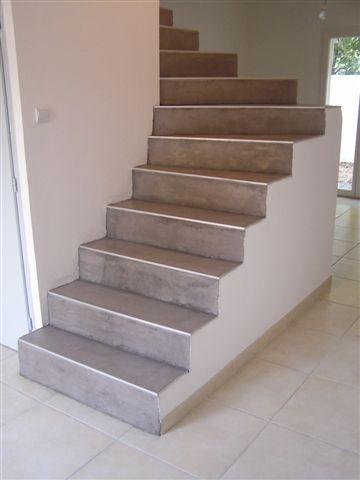 Création d'un escalier béton